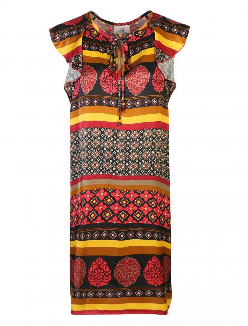 Платье из вискозы с узором - Общий вид