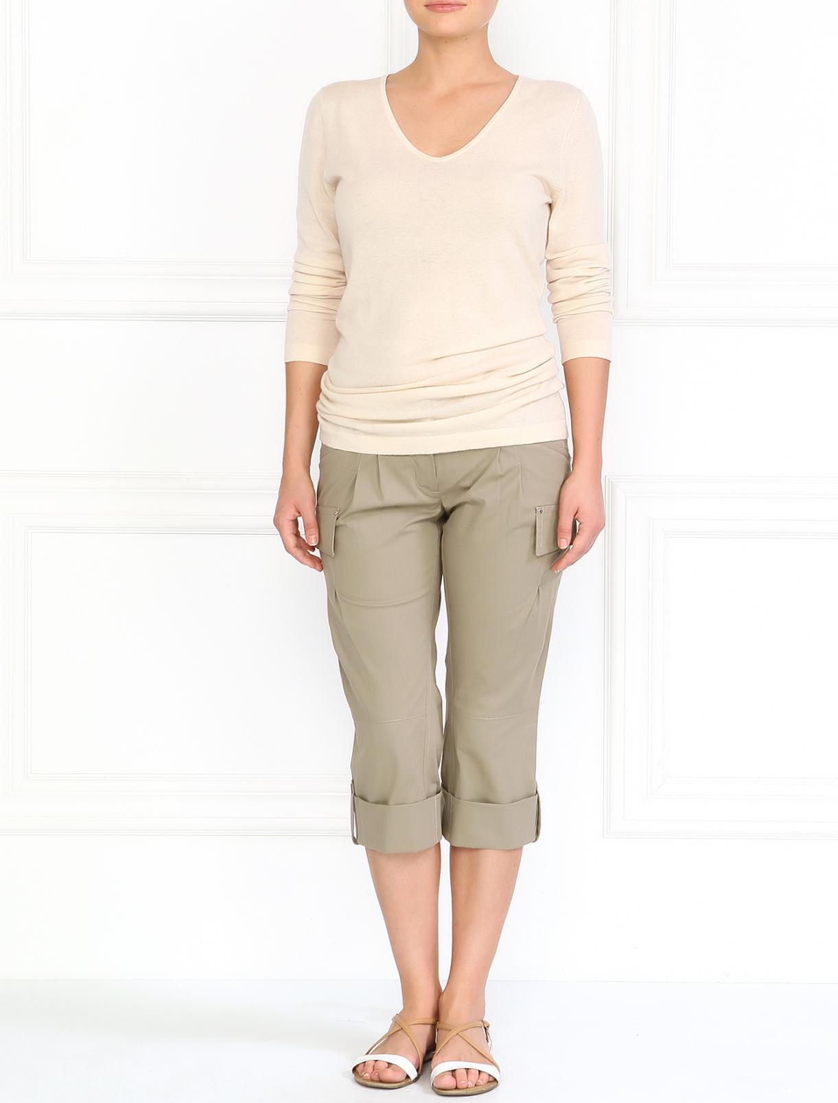 Укороченные брюки с боковыми карманами Philosophy di Alberta Ferretti  –  Модель Общий вид