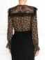 Блуза из шелка с цветочным узором и кружевной отделкой Philosophy Di Lorenzo Serafini  –  Модель Верх-Низ1