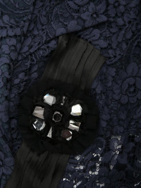 Кружевная блуза с декором - Деталь