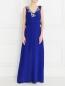 Платье-макси из шелка с аппликацией из пайеток Pianoforte  –  Модель Общий вид