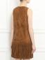 Платье из замши с бахромой Yves Salomon  –  Модель Верх-Низ1