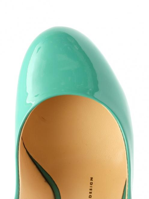 Туфли из лаковой кожи на высоком каблуке - Обтравка3