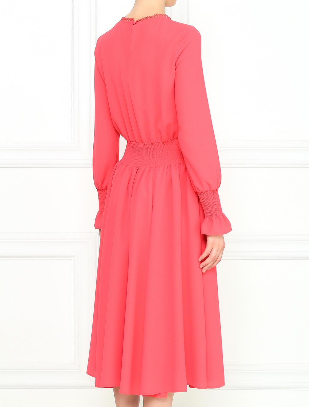 розовое платье миди купить