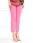 Укороченные брюки из хлопка с боковыми карманами Moschino Cheap&Chic  –  Модель Верх-Низ
