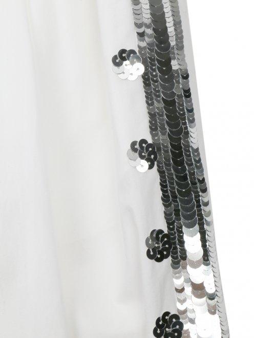 Брюки из хлопка декорированные пайетками - Деталь1