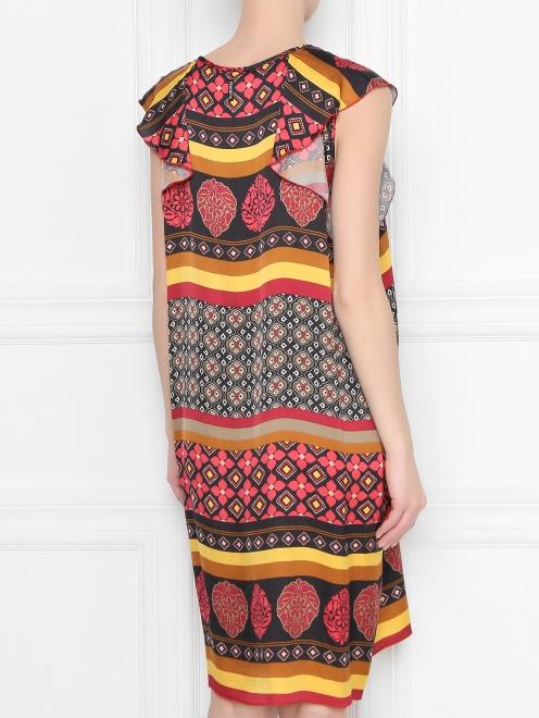 Платье из вискозы с узором - МодельВерхНиз1