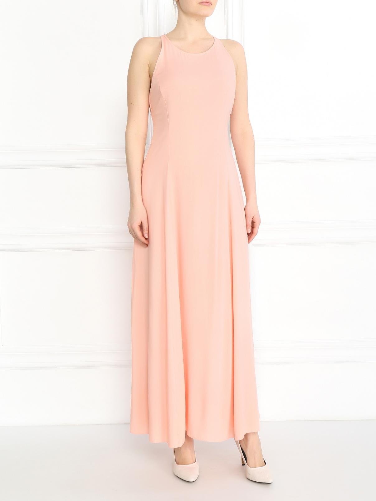 Платье-макси Armani Jeans  –  Модель Общий вид  – Цвет:  Розовый