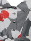 Платье-макси с цветочным узором Carolina Herrera  –  Деталь