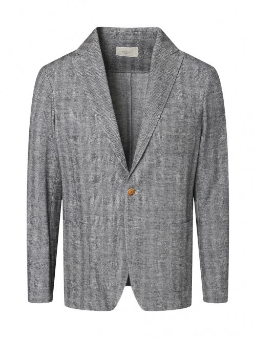 Пиджак однобортный из хлопка и шерсти  - Общий вид