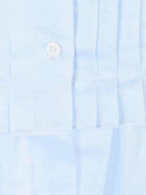 Платье из хлопка и шелка со складками - Деталь1