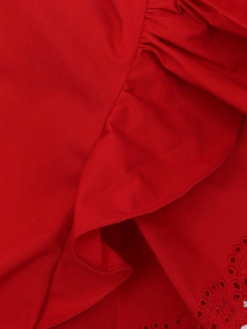 Платье-миди из хлопка с короткими рукавами - Деталь1