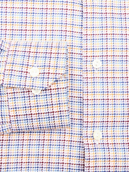 """Рубашка из хлопка с узором """"клетка"""" - Деталь1"""