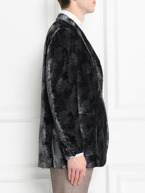 Пиджак однобортный с узором - МодельВерхНиз2