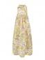 Платье-макси из шелка с цветочным узором MSGM  –  Общий вид