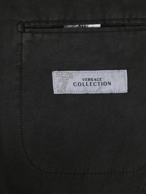 Пиджак однобортный из хлопка  - Деталь2