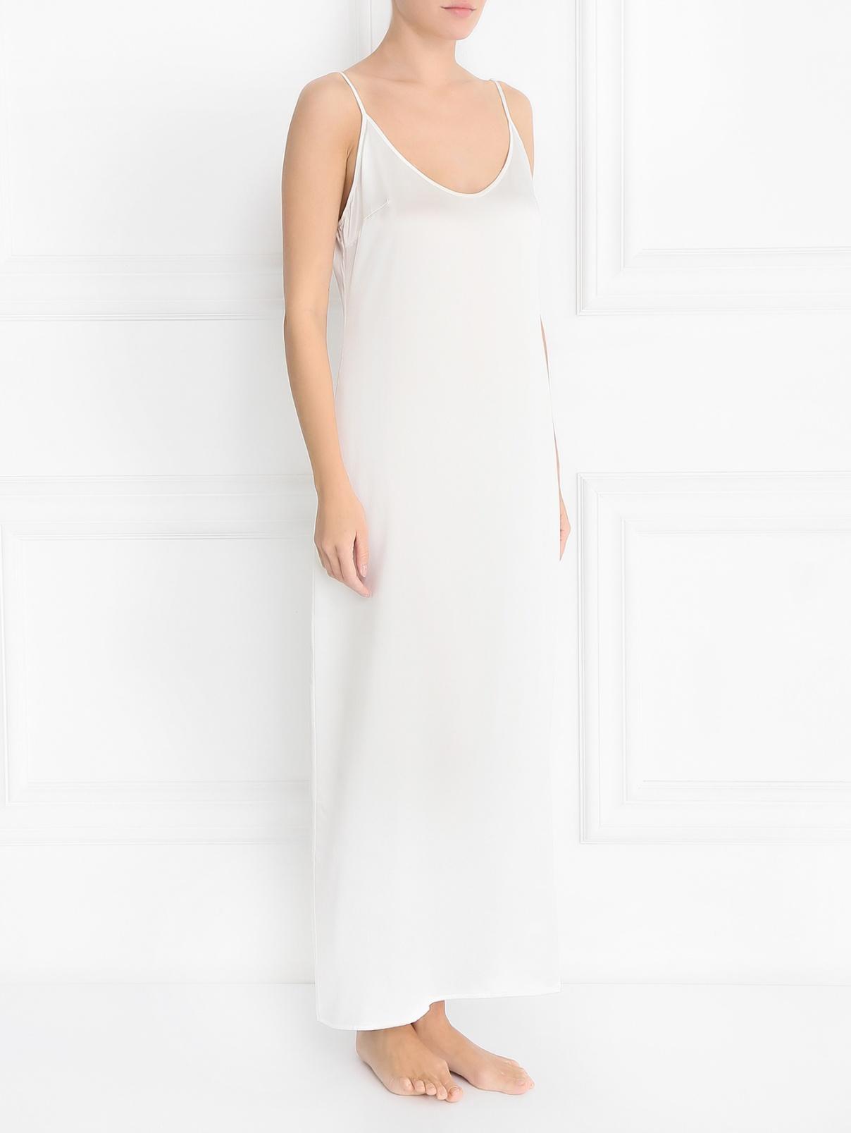 Сорочка-макси из шелка La Perla  –  Модель Общий вид
