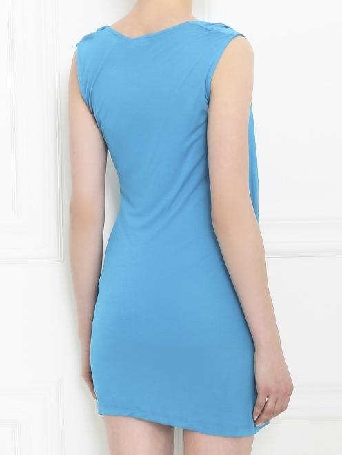 Платье-мини из трикотажа - Модель Верх-Низ1