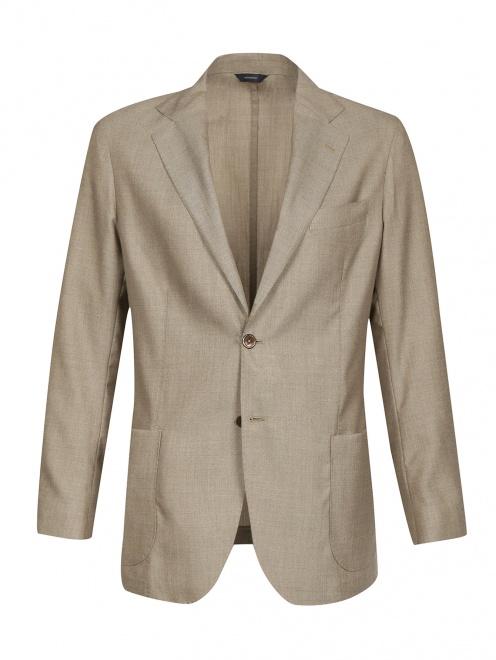 Однобортный пиджак из кашемира - Общий вид