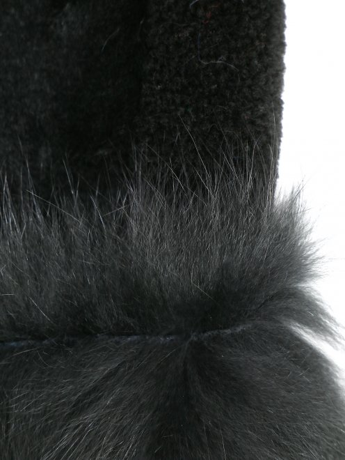 Шуба с накладными карманами - Деталь1