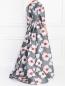 Платье-макси с цветочным узором Carolina Herrera  –  Модель Верх-Низ1