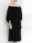 Платье-миди на резинке с защипами Sonia Rykiel  –  Модель Верх-Низ