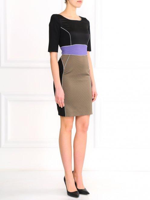 Платье-футляр с коротким рукавом - Общий вид