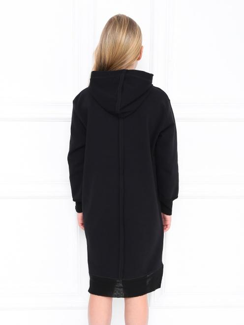 Платье трикотажное с принтом - МодельВерхНиз1