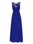 Платье-макси из шелка с аппликацией из пайеток Pianoforte  –  Общий вид