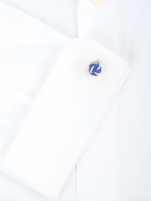 Запонки из текстиля  - Деталь