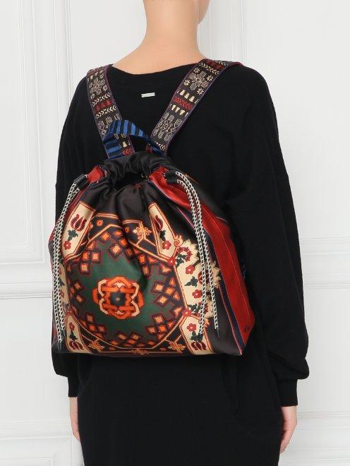 Рюкзак текстильный с узором  - МодельВерхНиз