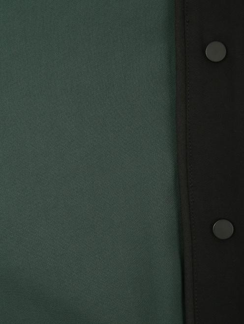 Брюки свободного кроя с контрастной отделкой - Общий вид