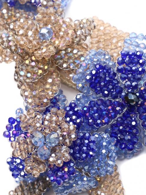 Колье из кристаллов в форме цветов - Деталь