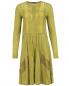Платье-мини из шерсти и шелка с отделкой из кружева Alberta Ferretti  –  Общий вид