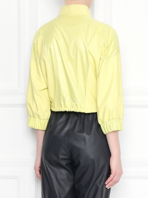 Куртка укороченая, кожаная  - МодельВерхНиз1