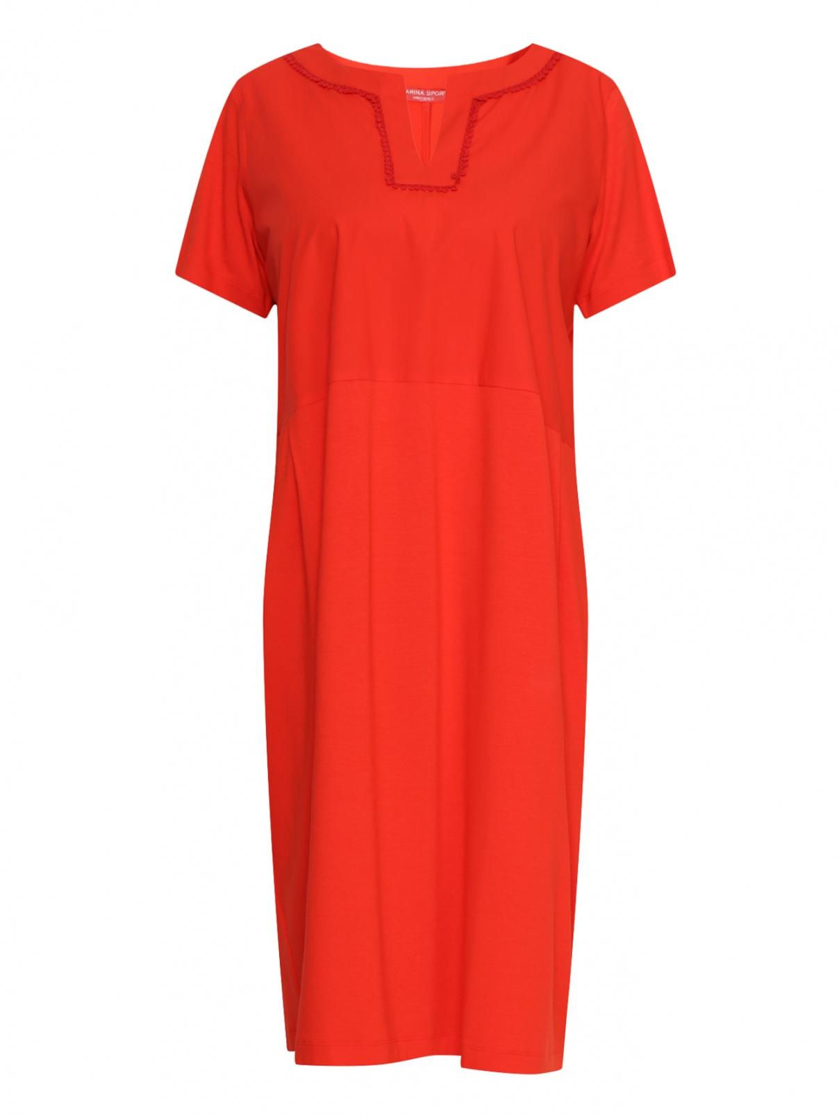 Трикотажное платье свободного кроя Marina Rinaldi  –  Общий вид