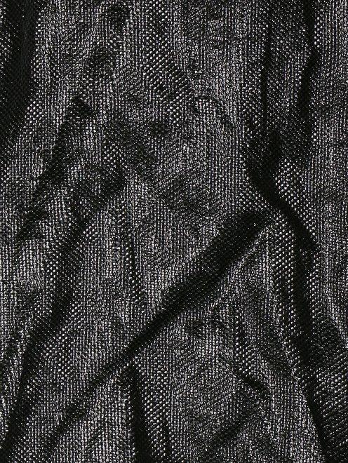 Топ с аппликацией из перьев и бисера - Деталь1