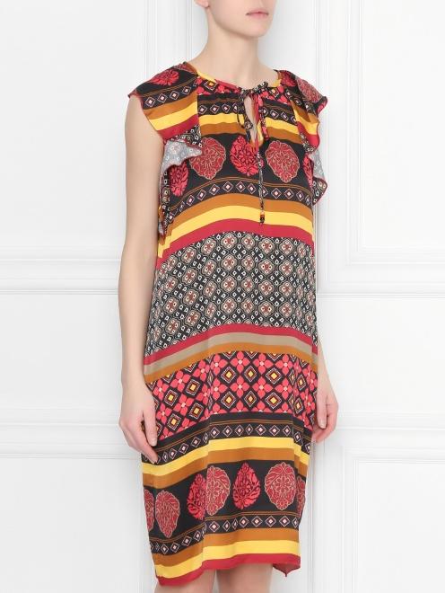 Платье из вискозы с узором - МодельВерхНиз