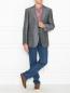 Пиджак из смеси шерсти и льна однобортный Boss  –  МодельОбщийВид