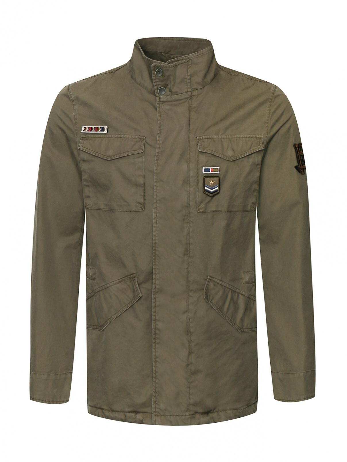 Куртка из хлопка с нашивками Herno  –  Общий вид