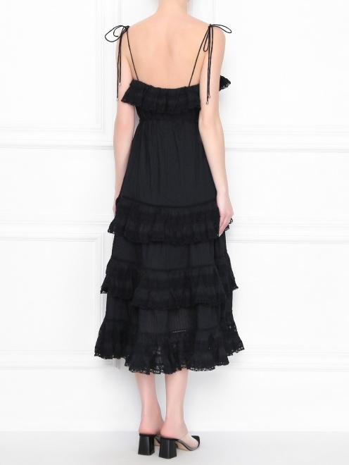 Платье из хлопка с кружевной отделкой - МодельВерхНиз1