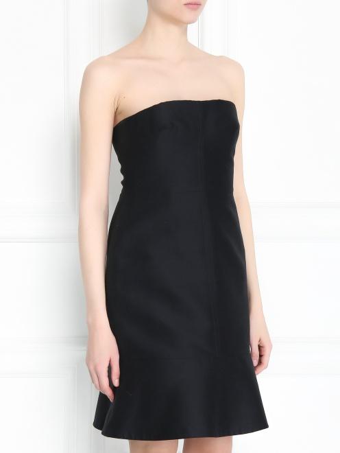 Платье-мини из смешанного шелка - Модель Верх-Низ