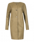 Пальто-трапеция из кожи Yves Salomon  –  Общий вид