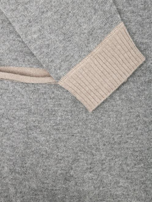 Кардиган из смешанной шерсти с контрастной отделкой - Деталь1