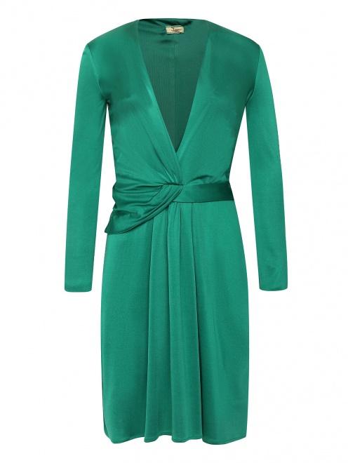 Платье-мини из шелка с драпировкой  - Общий вид