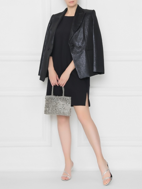 Платье прямого кроя с разрезами  - Общий вид