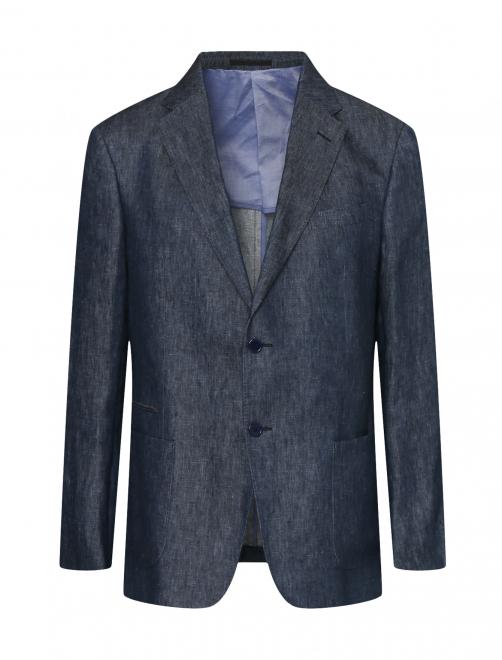 Пиджак однобортный из льна - Общий вид
