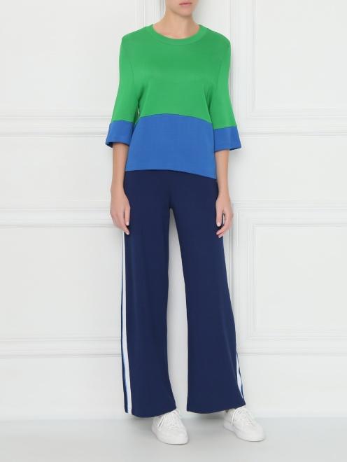 Трикотажные брюки на резинке - Общий вид