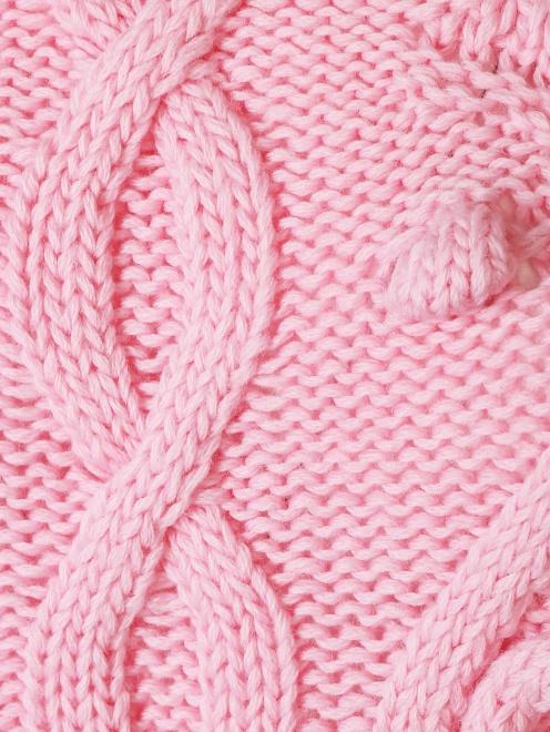 Джемпер из шерсти объемной вязки - Деталь