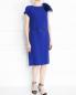 Платье прямого кроя декорированное перьями Yves Salomon  –  Модель Общий вид